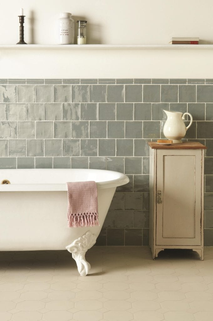 Original Style - VFT - Dover White York pattern with Winchester Metropolitan Lazul wall tiles _2